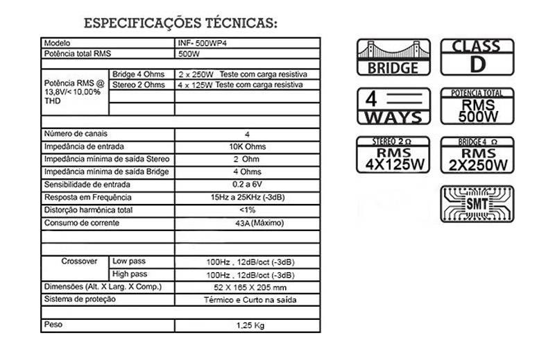 Infratron-Amplificador-Digital-Classe-D-INF-500WP4-imagem2