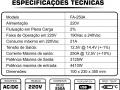 ESPECIFICAÇÕES TÉCNICAS FONTE 250A
