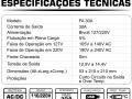ESPECIFICAÇÕES TÉCNICAS FONTE 30A